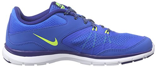 Nike Womens Flex Trainer 5 Scarpa Blu, Bianca