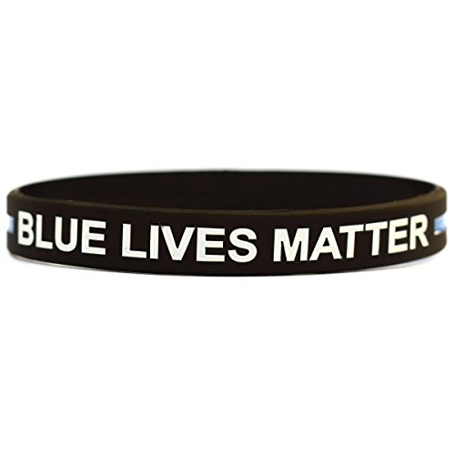 Price comparison product image One Child Size Blue Lives Matter Wrist Band