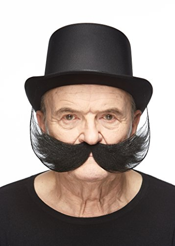 Mustaches Self Adhesive, Novelty, Fake Fisherman's, Black Color by Mustaches (Image #1)