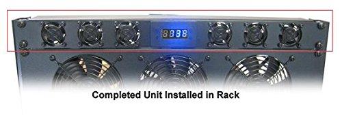Coolerguys Programmable Thermostat 1U Bracket (6) 40mm Med Speed Fans Power Supply
