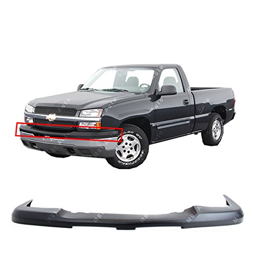 Black Front Upper Bumper Top Cover for 2003 2004 2005 2006 Chevy Silverado & Avalanche 03-06, GM1051110 ()
