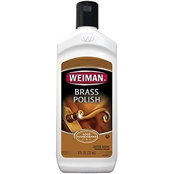 Weiman Brass Polish, Clean and Remove Tarnish 8 fl oz