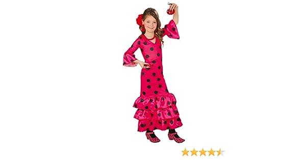 Guirca - Disfraz Andaluza, talla 7-9 años, color rosa (82717 ...
