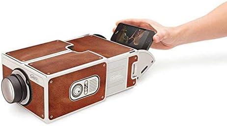 Greenwoodhomer Mini Tragbare Pappe Smart Phone Projektor 2 0 Handy Projektion Für Home Theater Audio Video Projektor Küche Haushalt