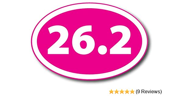 13.1 Half Marathon Pink Oval Car Magnet Decal Heavy Duty Waterproof Magnet Me Up