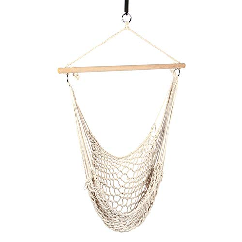 MHO Children's Swing, Natural Cotton Ropes Snug Secure Toddler Swing Seat Indoor Playground Easy Installation Swing ()