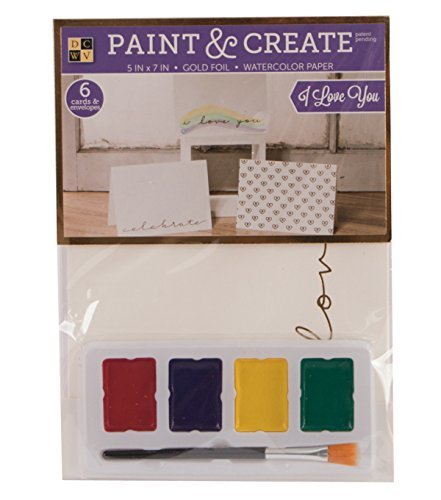 Coloring Greeting Cards Stationery Set Paint and Create All Occasions Box Sets (3) unique designs (6) watercolor cards; (6) envelopes, 4 mixable paints and a brush