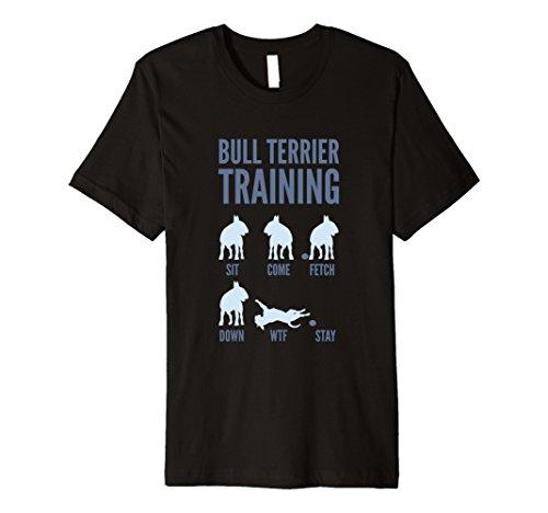 Mens English Bull Terrier Training T-Shirts 2XL Black