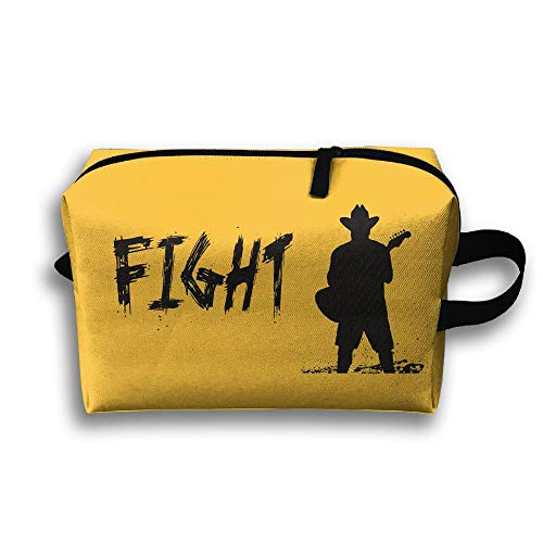 Fight Silhouette Cosmetic Bags Makeup Organizer Bag Pouch