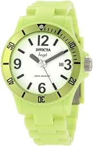 Invicta Women's 1211 Angel White Dial Neon Green Plastic Watch