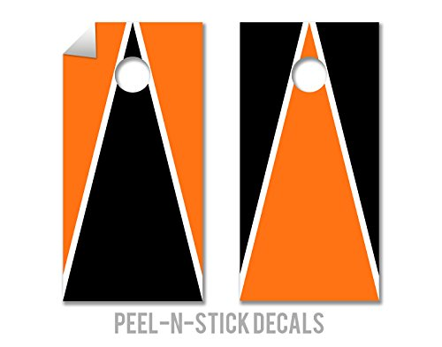 Black & Orange - Cornhole Crew - ACA Regulation Size Cornhole Board Decals