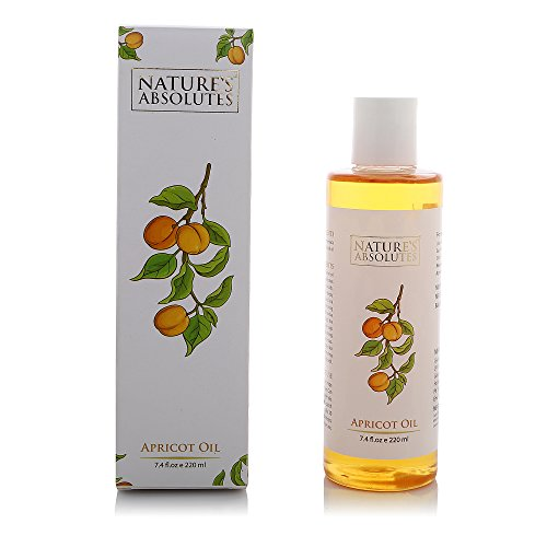 Nature's Absolutes Apricot Carrier Oil- 7.4 fl Oz/220 ml - 100% Pure,Natural,Organic, Coldpressed For Hair And Skin ()