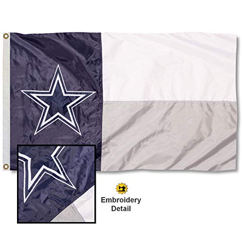 WinCraft Dallas Cowboys State of Texas Embroidered Nylon Flag