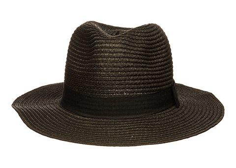 c3d30ee9c299e Women s Wide Brim Fedora Hat Spring Summer 126SH (Black) at Amazon ...