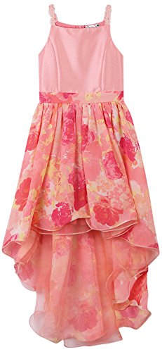 Speechless Big Girls' Spring Dance Or Party Dress, Coral/Yellow, (Tween Easter Dresses)