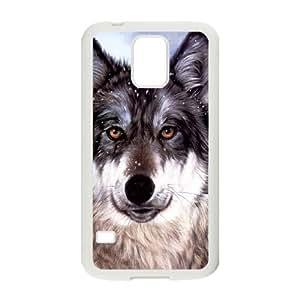 Samsung Galaxy S5 Phone Case White Wolf Face KG6359654