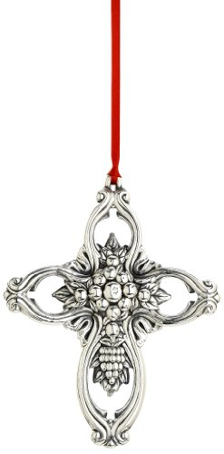 Reed & Barton Francis I Pierced Cross Christmas Ornament, 3-3/4-Inch Reed & Barton Christmas Cross