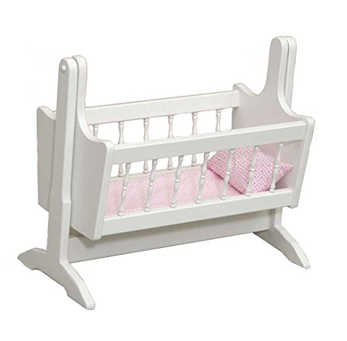 Furniture Barn USA Adorable Doll Swinging Cradle -THIS IS A TOYWhite American Made by Amish