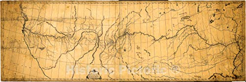 Historic 1807 Map | A map of The Discoveries of Capt. Lewis & Clark from The Rockey Mountain and The River Lewis to The Cap of Disappointement or The Coloumbia River at The North Pacific 72in x 24in