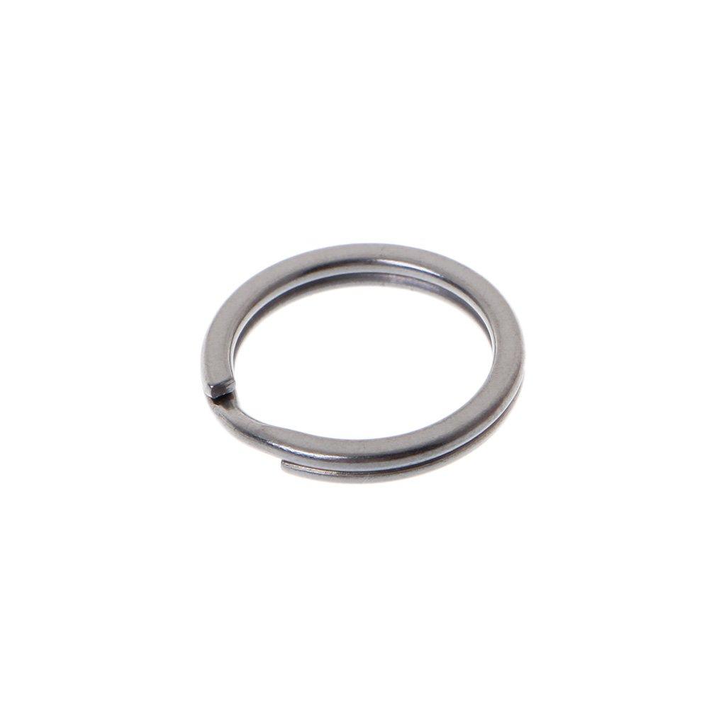 sitonelectic EDC Titanium Alloy Key Ring Pocket Tool Mini Split Keychain Buckle Circle Clip