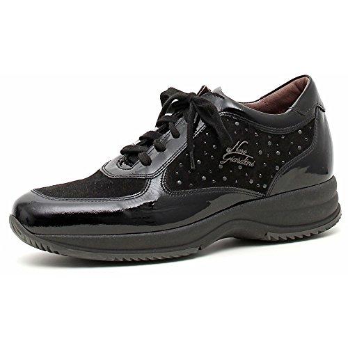 Donna A309670d Nero Naplak Vernice Giardini Sneaker camoscio qSwz0EA