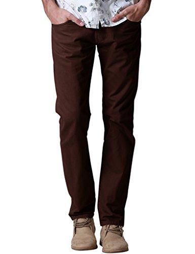 Match Men's Regular Fit Straight Leg Jeans #8048(34,Brown)