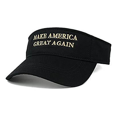 Donald Trump Visor, Make America Great Again - METALLIC GOLD Embroidered Visor Cap
