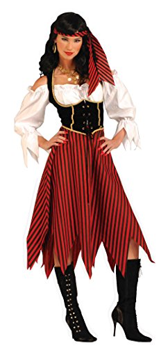 Forum Novelties Women's Adult Pirate Maiden Costume, Multi Colored, Standard -