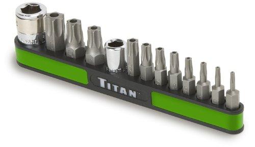 Titan Tools 16113 13-Piece Tamper Resistant Star Bit Set