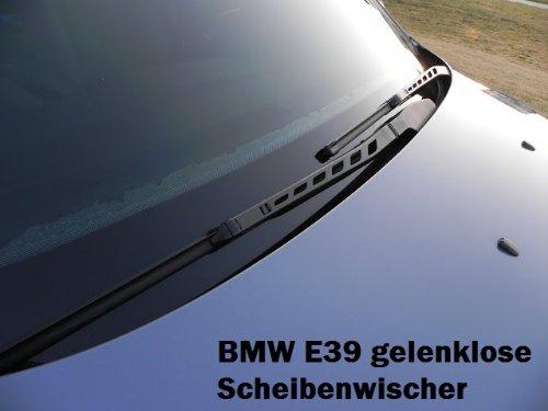 BMW E39 gelenklose Limpiaparabrisas wischerbläter Wiper Blades Juego 2 x 55 cm/65 cm: Amazon.es: Coche y moto