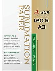 A-SUB - Papel de sublimación (A3, 120 g) A3, 100 Sheets