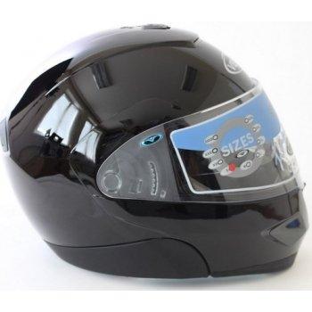 Vemar moto casco modelo JIANO tamaño XL negro brillante