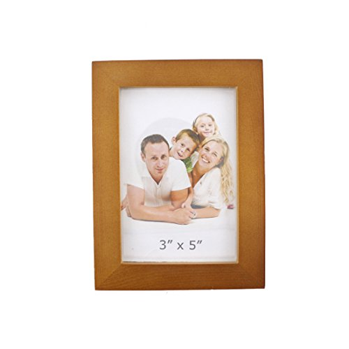 Classic Rectangular Wood Desktop Family Picture Photo Frame (Brown, 3X5)