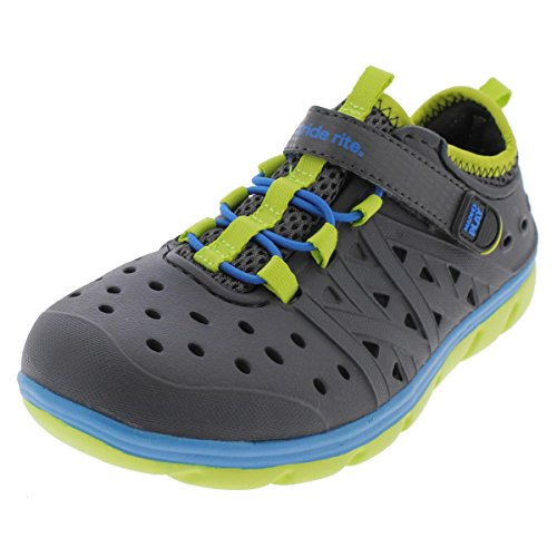 Stride Rite Boys' Made 2 Play Phibian (Toddler), Grey, 3 M US Little Kid (Rite Shoes Tennis Stride)