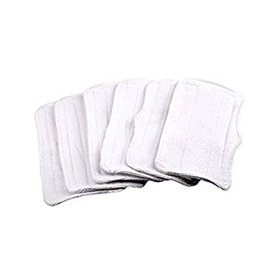 6Pcs Replacement Microfiber Cleaner pads Washable for Shark Steam Mop XT3010/S3111/S1001/S3101/SP100K/S3250/S3251/S3202/SE200/SP100Q (White)