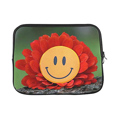 - Design Custom Smile Joy Flower Laughter Mood Happiness Delight Sleeve Soft Laptop Case Bag Pouch Skin for MacBook Air 11