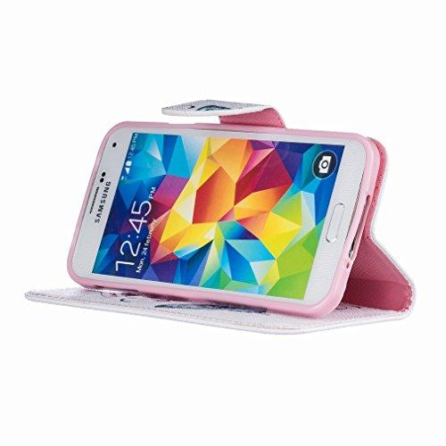 Case Vol Papillon Portefeuille Samsung Flip Galaxy Cuir Couverture Coquille Housse Mince Yiizy S5 Rabat Coque Design Cover Etui G900F PU M waq0YwUvdx