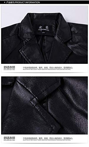 Leather Schwarz Leather Jacket Casual Winter Huixin Leather Fashion Warm Jacket Men with Apparel Men's Faux Outerwear Zipper Jacket Lambswool wUqtIZ