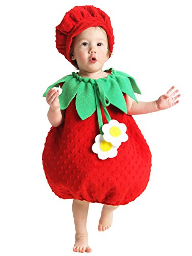Princess Paradise Baby Girls' Bubble Strawberry Deluxe Costume, As As Shown, -