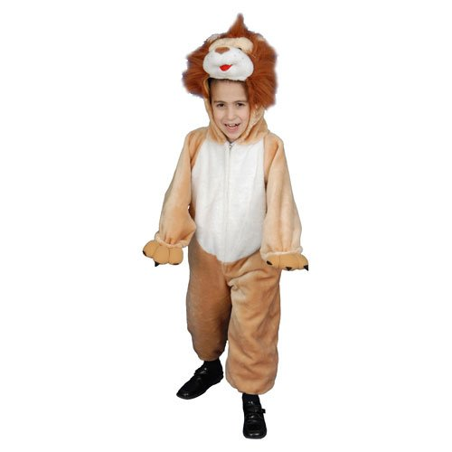 Deluxe Kids Plush Lion Costume Set By Dress Up America - Large (Deluxe Plush Lion Costumes)