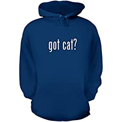 got cat? - A Nice Men's Hoodie Hooded Sweatshirt, Blue, X-Large