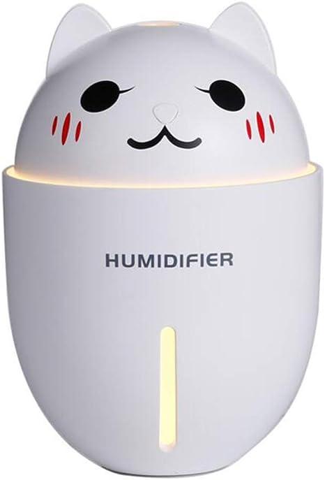 Mini gato Humidificador Ultrasónico Niebla, Usb 320 Ml Niño ...