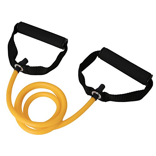 VIPASNAM-New Latex Resistance Bands Workout Exercise Pilates Yoga Fitness Tubes Pull Rope(color:yellow gb-CQ1599) (Spongebob Light Pull)