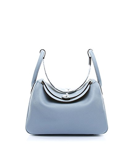Shoulder Grey Everyday Genuine Women's Purse Hobo Leather Bag Ainifeel Blue BqSIwHx6U