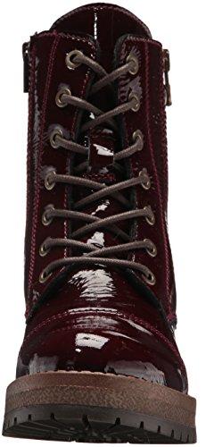 Bos. & Co. Vrouwen Paula Combat Boot Bordo Crinkle Patent