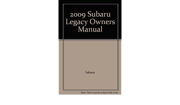 09 2009 subaru legacy outback vehicle owners manual book handbook.