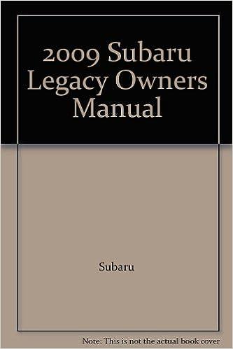 2009 subaru legacy owners manual: amazon. Com: books.