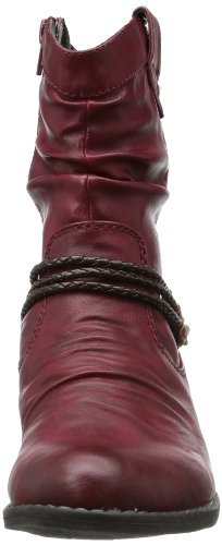 Rieker 92988 - Botas vaqueras, color: Rojo (Rot) Rojo (Rot (vino/testadimoro 35))