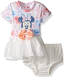 Disney Baby Girls\' Minnie Mouse Dress, Pink, 0-3 Months