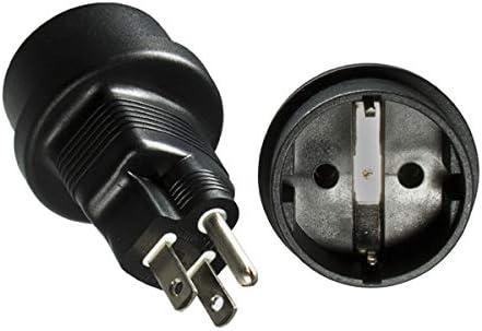 DINIC - Adaptador de Corriente para Estados Unidos y Japón (Enchufe con Toma de Tierra, 3 Pines) 3 Unidades Negro: Amazon.es: Electrónica